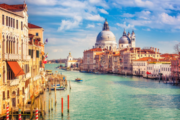 Photo sur Aluminium Venise Grand Canal and Basilica Santa Maria della Salute in Venice