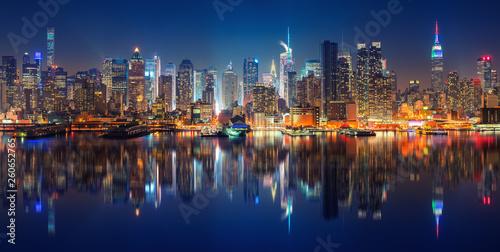 Fotomurales Panoramic view on Manhattan at night, New York, USA