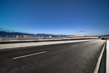 vancouver empty highway
