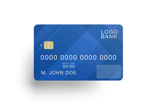 Mock up of a credit card