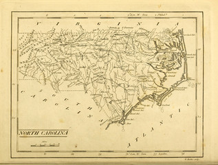 Old map. Engraving image. US