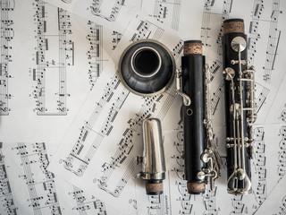 Teile der Klarinette, Notenblätter