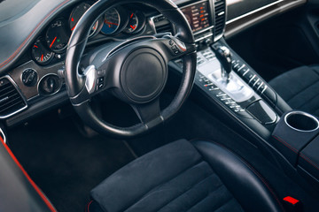 Modern suv car interior