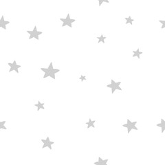 Hand drawn cute vector seamless star pattern, vintage, retro, wedding, greeting card, web template, wallpaper, pattern for kids, baby apparel, fabric, textile, wallpaper, bedding, swaddles, pyjama