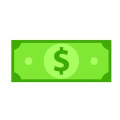 Money cash icon. Clipart image isolated on white background