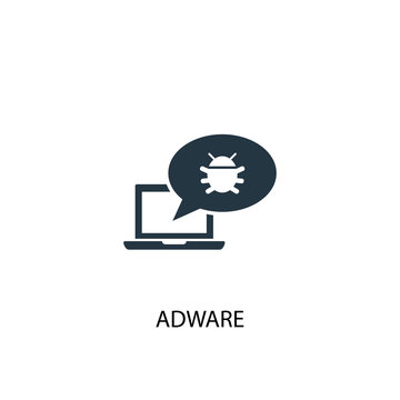 Adware icon. Simple element illustration. Adware concept symbol design. Can be used for web and mobile.