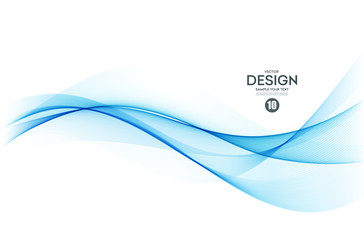 Poster Abstract wave Abstract colorful vector background, color wave for design brochure, website, flyer.