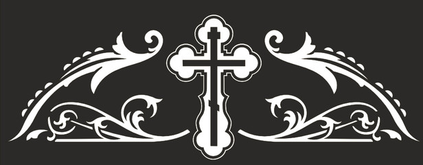 TOP ORNAMENT WITH ORTHODOX CROSS