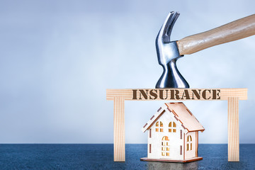 Home insurance concept. home protection insurance with copy space.