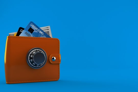 Wallet with combination lock