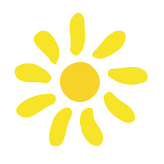 Vector cartoon sun icon