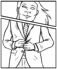 Illustration erfolgreiche Geschäftsfrau als Karrierefrau