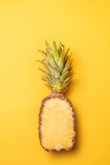 Creative summer pattern of pineapple. Food concept