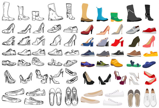 shoe set with sketch