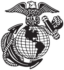 United States Marine Corps  - Retro Ad Art Illustration
