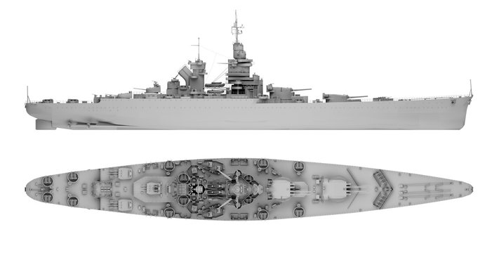 warship in gray