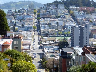 View over Lombard Street, San Francisco