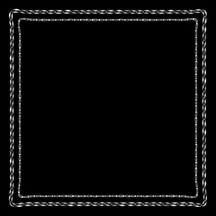 Chains Bandanna Square Silk Scarf Template with vector pattern for textile or fabric. Sliver Chain on Black