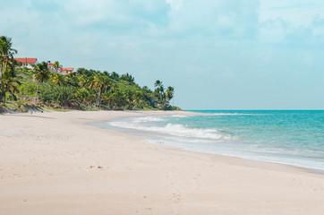 Tabatinga beach, Praia de Tabatinga 2, Costa do Conde, Conde PB Brazil. Brazilian northeast beach. Paradisiac beach on a beautiful sunny day.