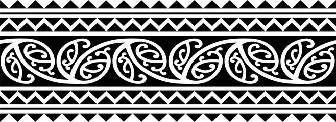 11c42f62c Polynesian tattoo sleeve pattern vector, samoan forearm and foot design,  maori bracelet armband tattoo