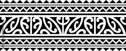 Polynesian Maori Tattoo Sleeve Pattern Vector Samoan Forearm And