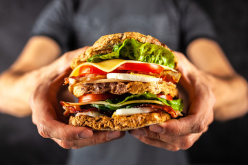 Fotoväggar - Tall club sandwich