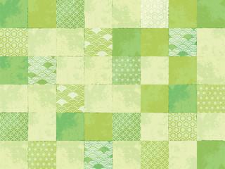緑色の和風パターン Wall mural