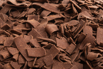 chocolate chips close up