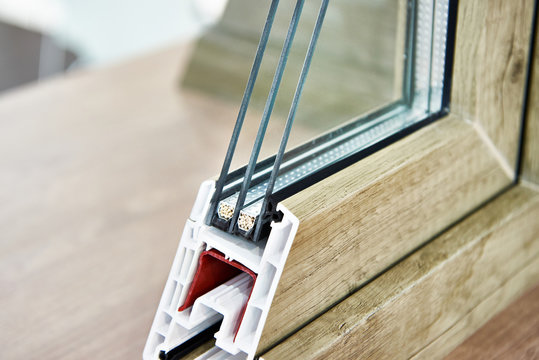 Insulated triple glazing cross section