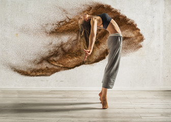 explosive dance sexy woman