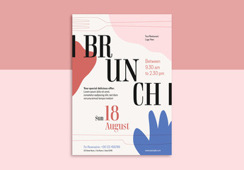 Brunch Flyer with Abstract Designs