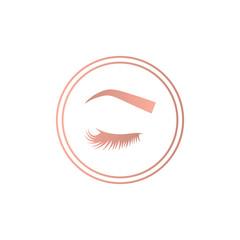 Eyelashes and eyebrows logo