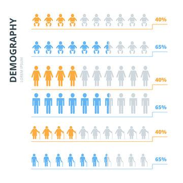 Infographics elements people