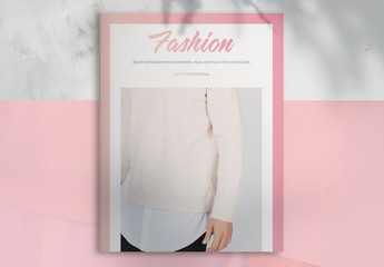 Fashion Project Proposal Layout with Pink Accents