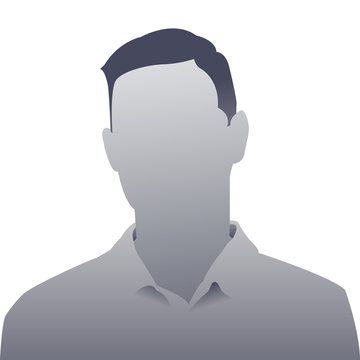 Generic person gray photo placeholder man silhouette on a white background