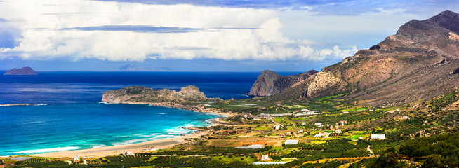 Wall Mural - wild beauty of Crete island. Picturesque Falasarna beach. travel in Greece