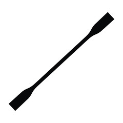 A black and white vector silhouette of a paddle