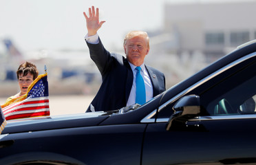 U.S. President Trump arrives in San Antonio, Texas