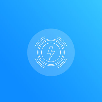 wireless charger line icon