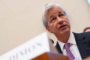 Jamie Dimon, chairman & CEO of JP Morgan Chase & Co., testifies before a House Financial Services Committee hearing on Capitol Hill in Washington