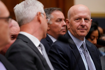 David M. Solomon, chairman & CEO of Goldman Sachs, testifies before a House Financial Services Committee hearing on Capitol Hill in Washington