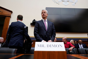 Jamie Dimon, chairman & CEO of JP Morgan Chase & Co., arrives to testify before a House Financial Services Committee hearing on Capitol Hill in Washington