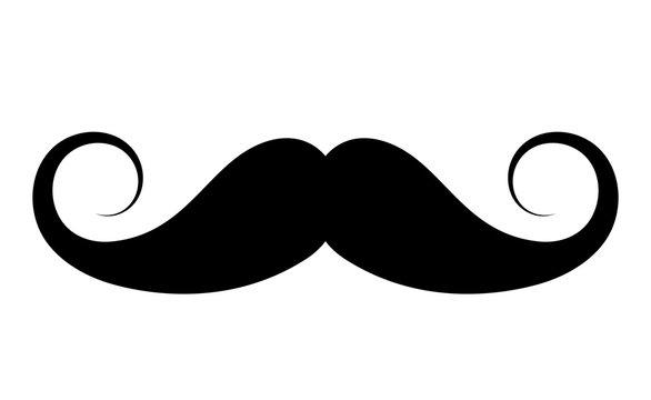 Retro style moustache icon