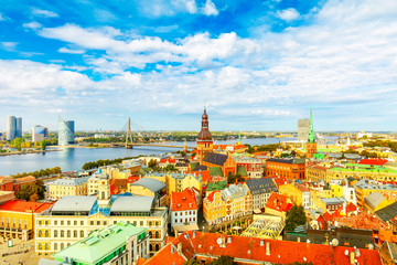 Wall Mural - Riga panoramic view, Latvia