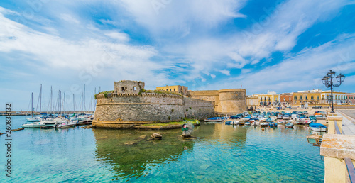 Wall mural View of Gallipoli town and harbour, Puglia Region, South Italy