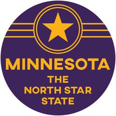 minnesota: the north star state | digital badge