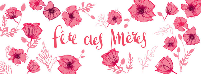 French Mother's Day background