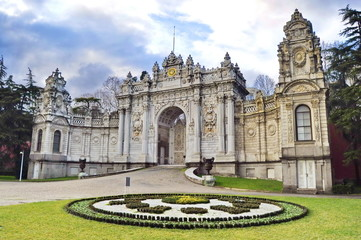 Gate of Dolmabahce palace in Istanbul, Turkey