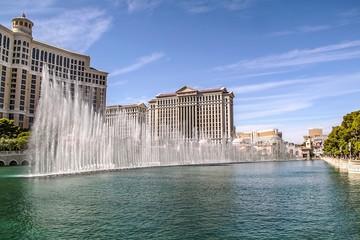 Foto op Canvas Las Vegas Gorgeous Bellagio Fountains Las Vegas Strip - Las vegas Strip Hotel. USA. Las Vegas.
