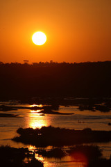 Printed kitchen splashbacks Elephant Sonnenuntergang Olifants River/ Sundown Olifants River /